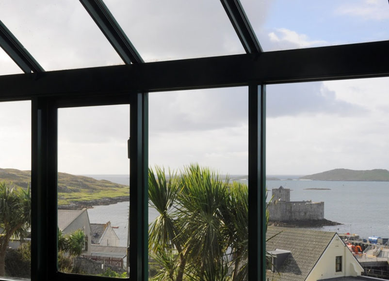 View from Castlebay Hotel